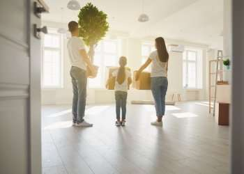 family moving into a home